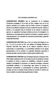 LEY NACIONAL DE SEMILLAS