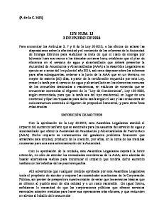 LEY NUM DE ENERO DE 2014