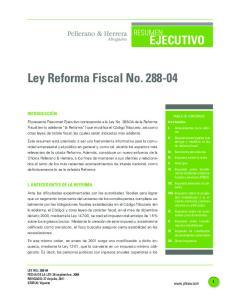 Ley Reforma Fiscal No