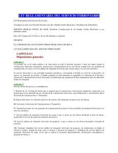 LEY REGLAMENTARIA DEL SERVICIO FERROVIARIO