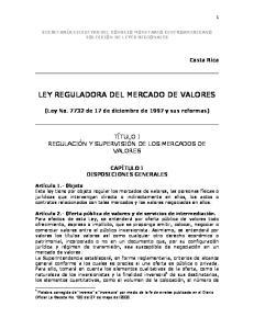 LEY REGULADORA DEL MERCADO DE VALORES