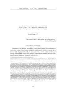 LEYENDO CON CARMEN ARRIAGADA