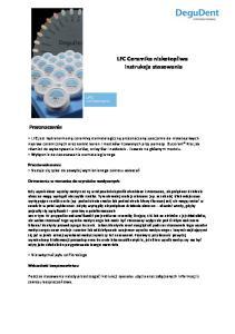LFC Ceramika niskotopliwa instrukcja stosowania