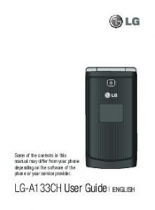 LG-A133CH User Guide ENGLISH