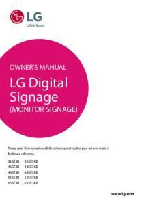 LG Digital Signage (MONITOR SIGNAGE)