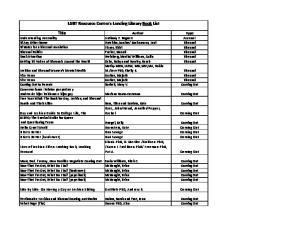 LGBT Resource Center's Lending Library Book List