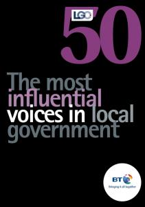 LGC s agenda 2 4 fdsdfdsfdsfsdfg xx. The most influential voices in local government. lgcplus.com. xx Month 2010 Local Government Chronicle 3