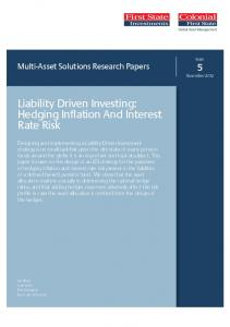 Liability Driven Investing: Hedging Inflation And Interest Rate Risk