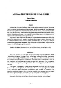 LIBERALISM AS THE CORE OF SOCIAL RIGHTS