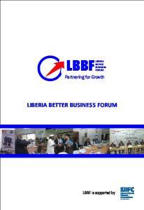 LIBERIA BETTER BUSINESS FORUM