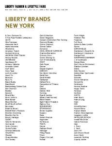 LIBERTY BRANDS NEW YORK