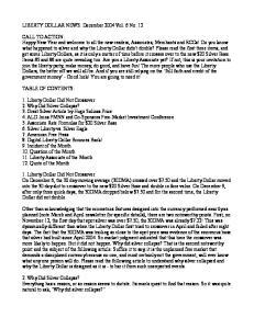 LIBERTY DOLLAR NEWS: December 2004 Vol. 6 No. 12