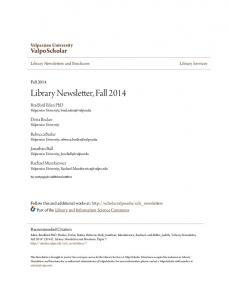 Library Newsletter, Fall 2014