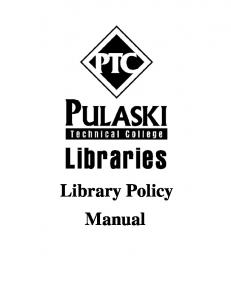 Library Policy Manual