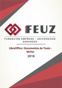 LibreOffice: Documentos de Texto - Writer