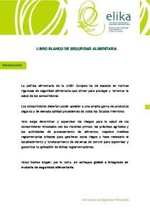 LIBRO BLANCO DE SEGURIDAD ALIMENTARIA