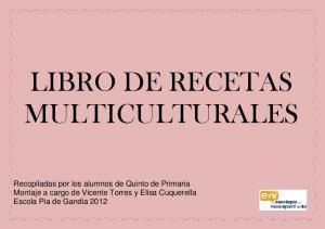 LIBRO DE RECETAS MULTICULTURALES