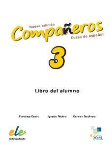Libro del alumno. Francisca Castro Ignacio Rodero Carmen Sardinero