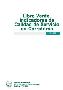 Libro Verde. Indicadores de Calidad de Servicio en Carreteras