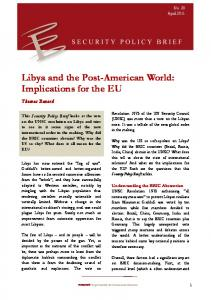 Libya and the Post-American World: Implications for the EU