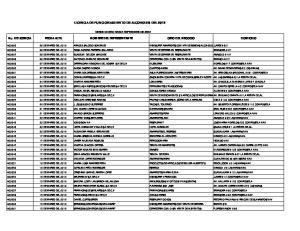LICENCIA DE FUNCIONAMIENTO DE ALCOHOLES DEL 2012