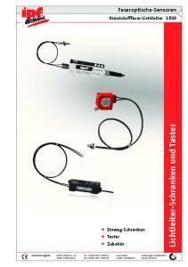 Lichtleiter-Schranken und Taster