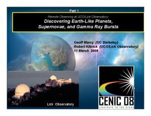 Lick Observatory) 11 March Lick Observatory