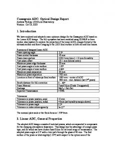 Lick Observatory Version: Oct 03, Introduction. 2. Linear ADC, General Properties