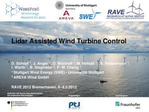 Lidar Assisted Wind Turbine Control