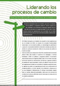 Liderando los procesos de cambio