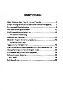 Liebe Mitglieder, liebe Freundinnen und Freunde des Hospiz Leverkusen!
