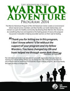 Life Adventure Center. Adventure. Program 2014