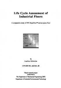 Life Cycle Assessment of Industrial Floors