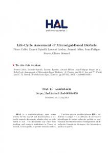 Life-Cycle Assessment of Microalgal-Based Biofuels