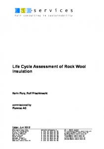 Life Cycle Assessment of Rock Wool Insulation