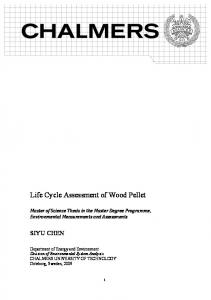 Life Cycle Assessment of Wood Pellet