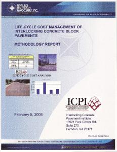 LIFE-CYCLE MANAGEMENT OF INTERLOCKING CONCRETE PAVEMENT