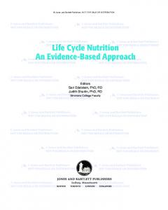 Life Cycle Nutrition An Evidence-Based Approach