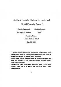 Life-Cycle Portfolio Choice with Liquid and Illiquid Financial Assets
