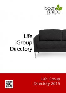 Life Group Directory Life Group Directory 2015