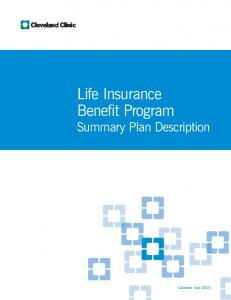 Life Insurance Benefit Program
