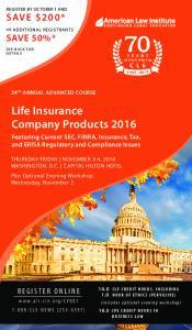 Life Insurance Company Products 2016