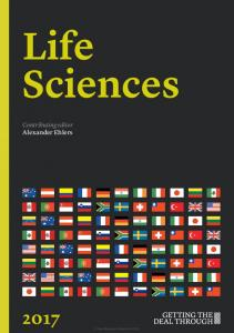 Life Sciences. Contributing editor Alexander Ehlers. Law Business Research 2016