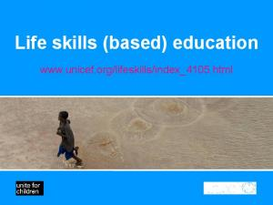 Life skills (based) education