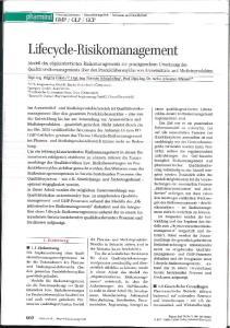 Lifecycle-Risikomanagement