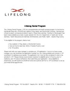 Lifelong Dental Program