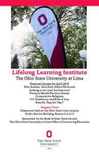Lifelong Learning Institute The Ohio State University at Lima