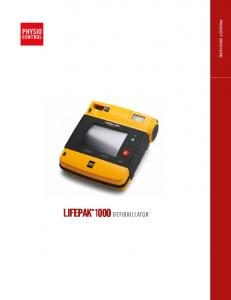 LIFEPAK 1000 DEFIBRILLATOR PRODUCT BROCHURE