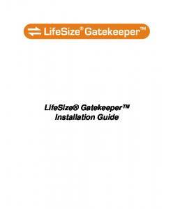 LifeSize Gatekeeper Installation Guide