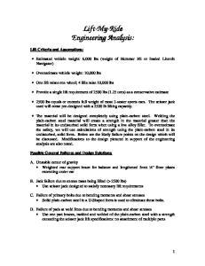 Lift-My. My-Ride Engineering Analysis: